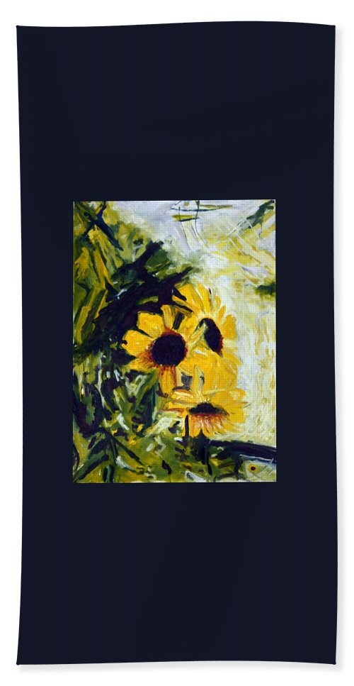 Landscape Beach Towel featuring the painting pocta VvG-scetch n-2 by Pablo de Choros
