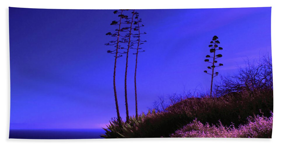 Art Beach Towel featuring the photograph Point Fermin In Infrared by Randall Nyhof