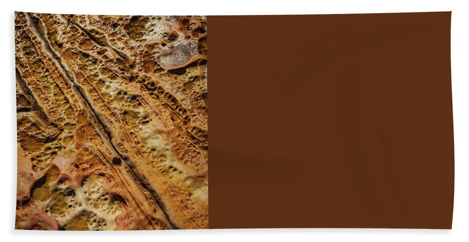 Point Lobos Beach Towel featuring the photograph Point Lobos Abstract 106 by Mike Penney