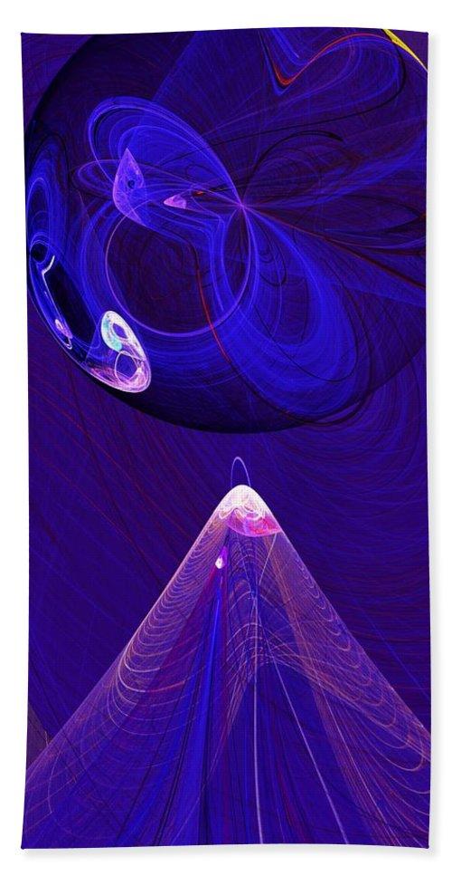 Fine Art Digital Art Beach Towel featuring the digital art Poised by David Lane