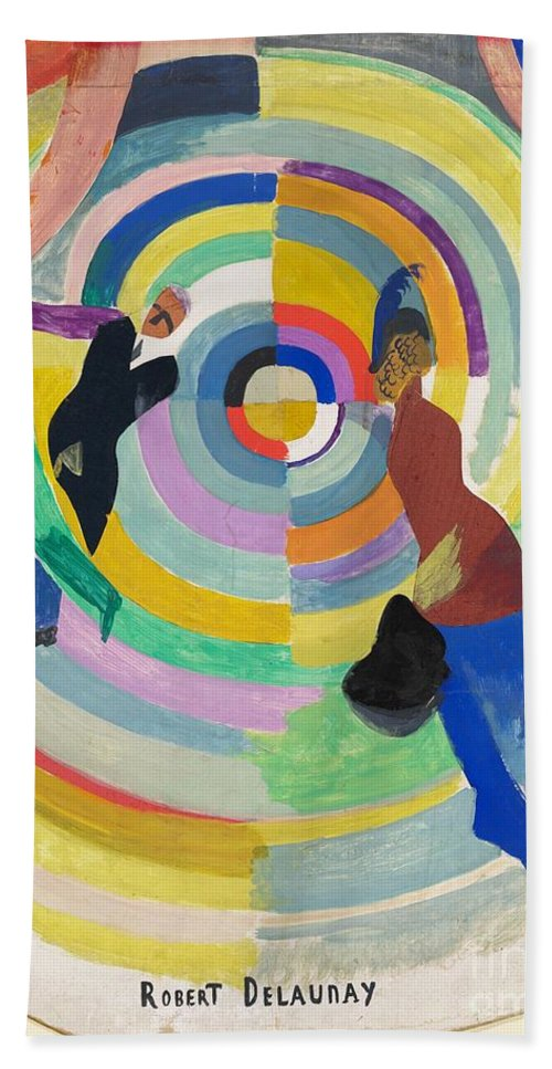 Beach Towel featuring the painting Political Drama by Robert Delaunay