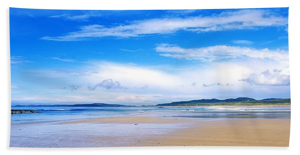Coast Beach Towel featuring the photograph Pollan Strand, Inishowen, County by The Irish Image Collection
