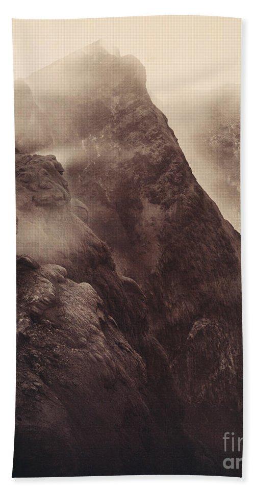 1892 Beach Towel featuring the photograph Pompeii, Mt Vesuvius by Granger