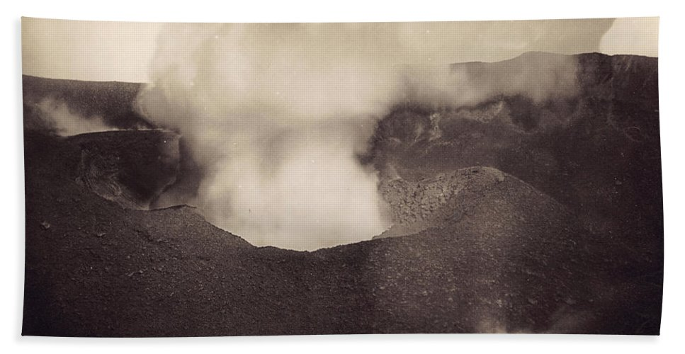 1888 Beach Towel featuring the photograph Pompeii: Vesuvius Crater by Granger