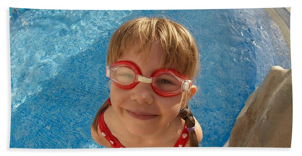 Tenerife Beach Towel featuring the photograph Pool Tester by Jouko Lehto