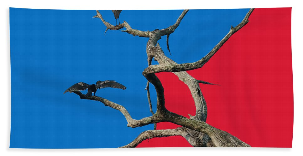 Birds Beach Towel featuring the digital art Pop Art by Robert Meanor