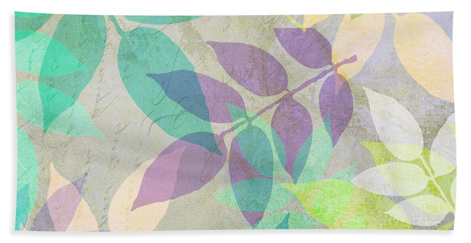 Leaf Beach Towel featuring the painting Poppy Shimmer IIi by Mindy Sommers