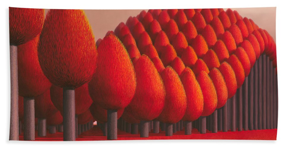 Tree Beach Towel featuring the painting Populus Flucta by Patricia Van Lubeck