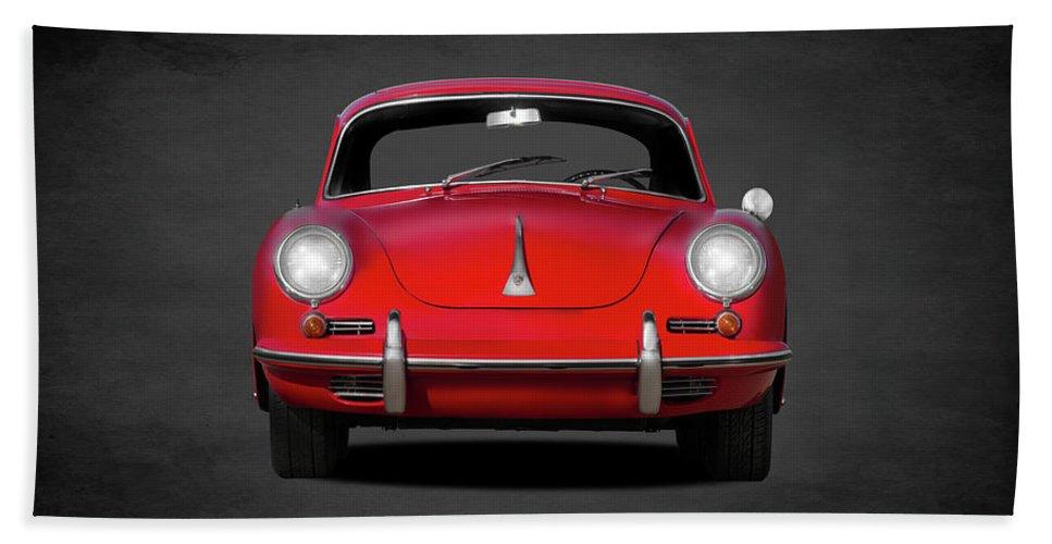 Porsche Beach Towel featuring the photograph Porsche 356 by Mark Rogan