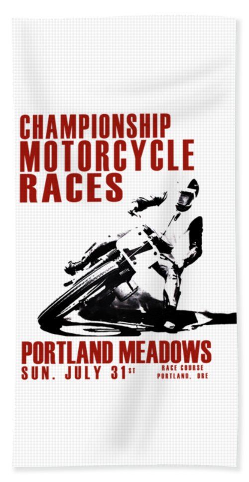 Motorcycle Beach Towel featuring the photograph Portland Meadows by Mark Rogan