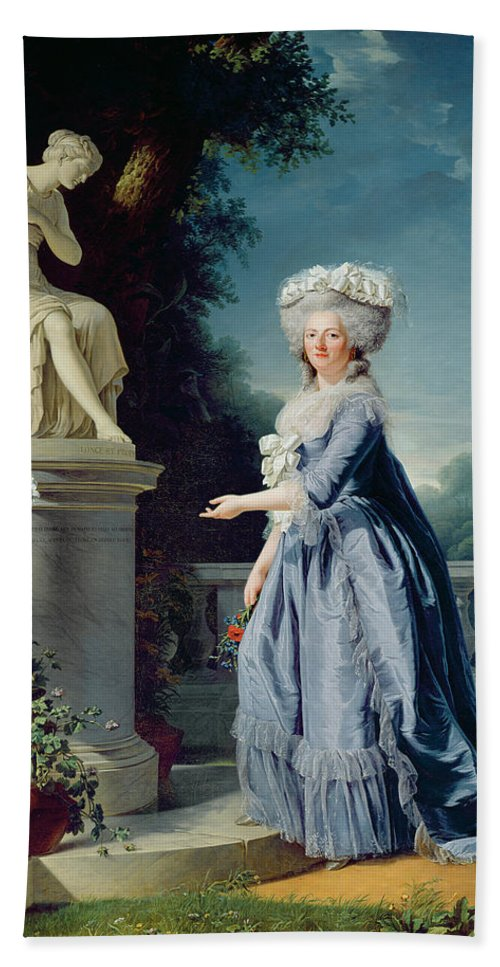 Portrait Beach Towel featuring the painting Portrait Of Marie-louise Victoire De France by Adelaide Labille-Guiard