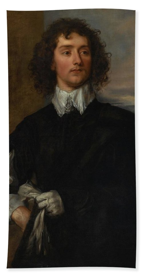 Attributed To Thomas Gainsborough Beach Towel featuring the painting Portrait Of Thomas Hanmer by Thomas Gainsborough