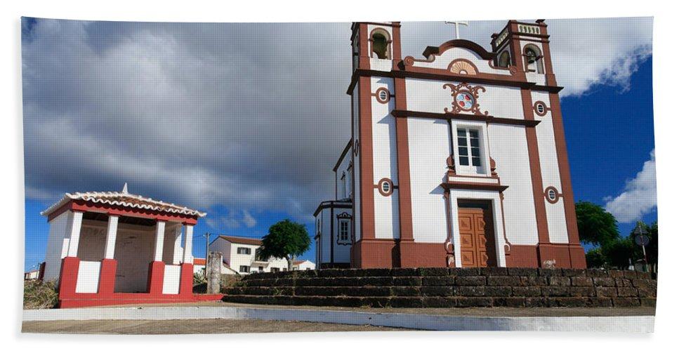 Architecture Beach Sheet featuring the photograph Portuguese Church by Gaspar Avila