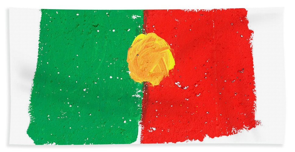 Portugal Beach Towel featuring the photograph Portuguese Flag by Gaspar Avila