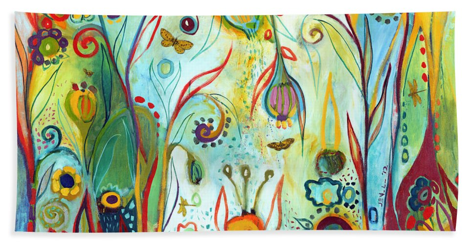 Garden Beach Towel featuring the painting Possibilities by Jennifer Lommers
