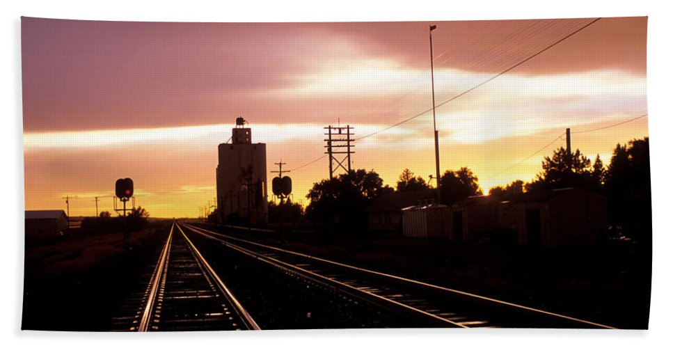 Potter Beach Towel featuring the photograph Potter Tracks by Jerry McElroy