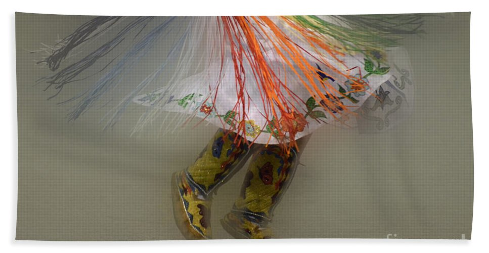 Pow Wow Beach Towel featuring the photograph Pow Wow Shawl Dancer 4 by Bob Christopher