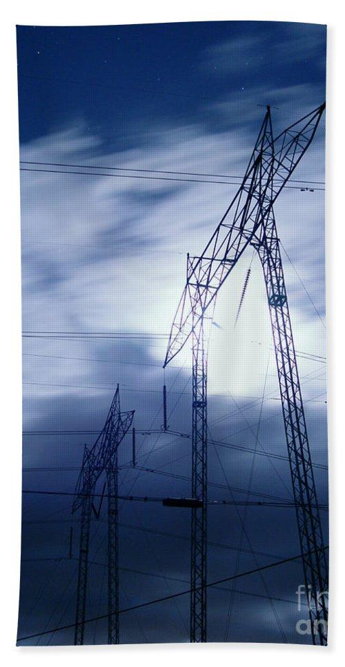 Clouds Beach Sheet featuring the photograph Power Surge by Peter Piatt
