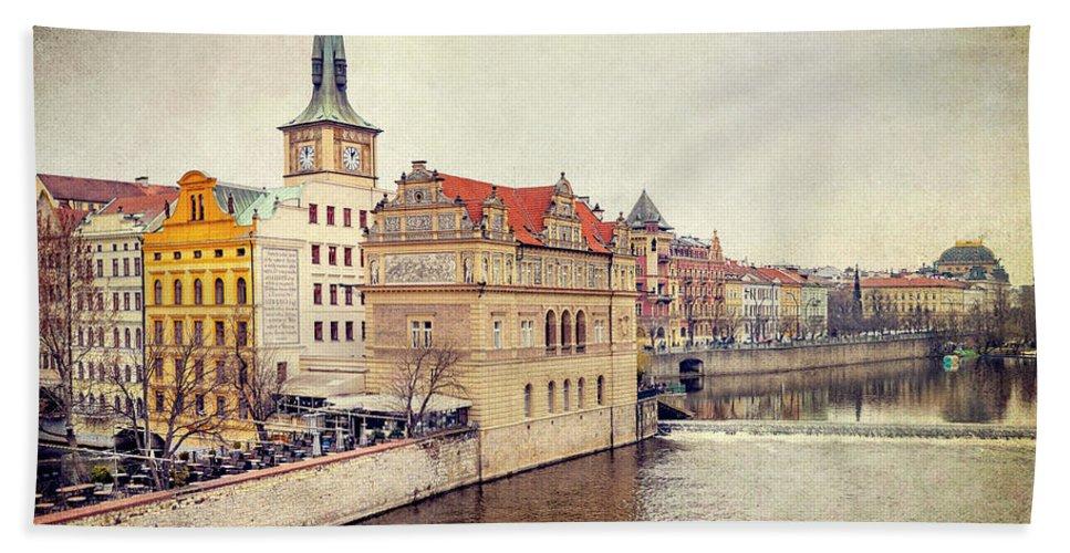 City Beach Towel featuring the photograph Prague View by Svetlana Sewell