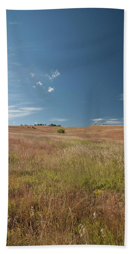 Nature Beach Towel featuring the photograph Prairie Sky by Deanna Paull