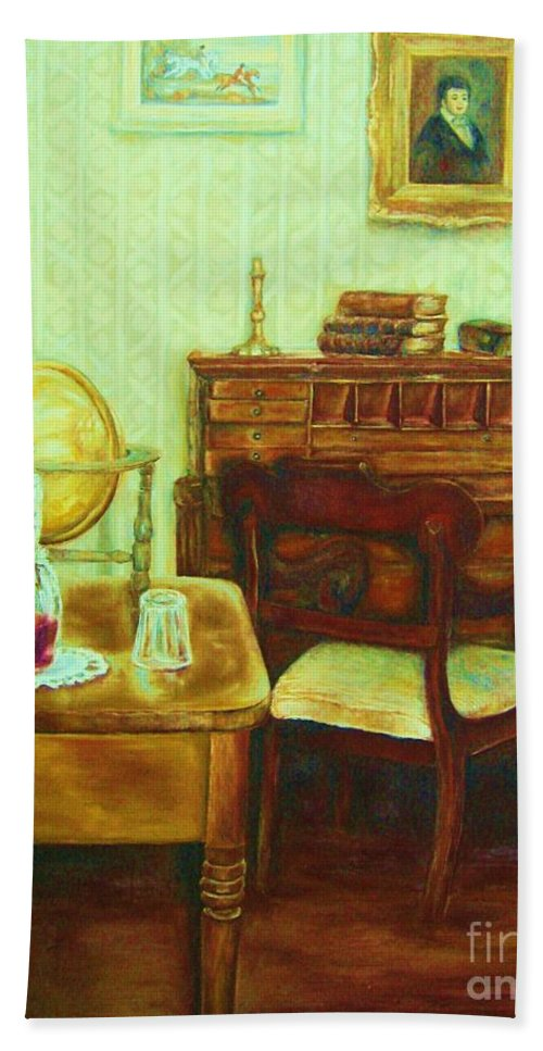 Prayer Room Beach Towel featuring the painting Prayer Closet by Carole Spandau