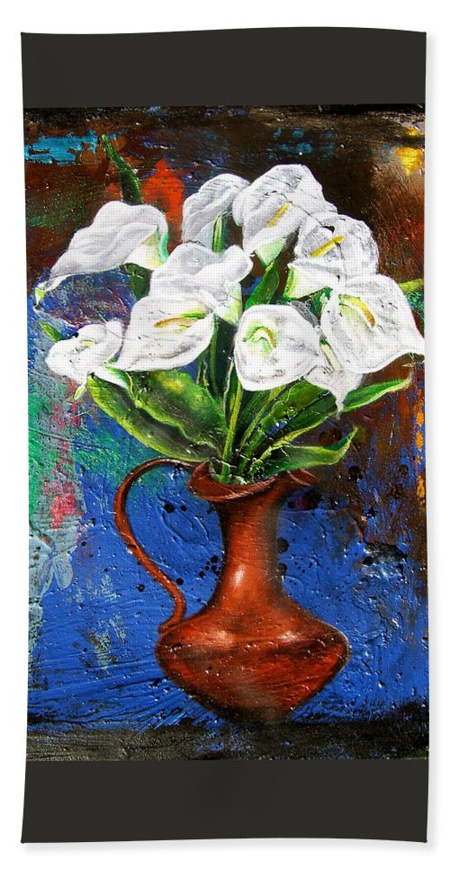 Orchid Painting Beach Towel featuring the painting Preacher In The Pulpit 2 by Laura Pierre-Louis