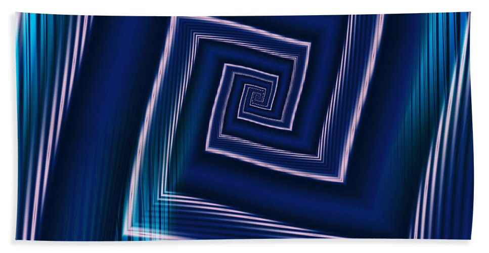Art Beach Towel featuring the digital art Predominantly Blue by Candice Danielle Hughes