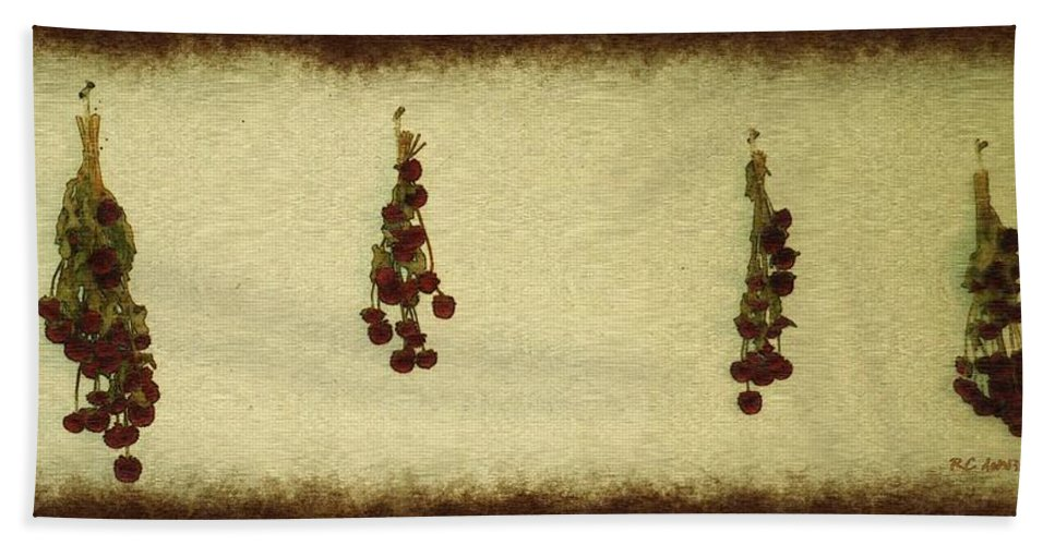 Armeria Beach Towel featuring the painting Preserving Beauty by RC DeWinter