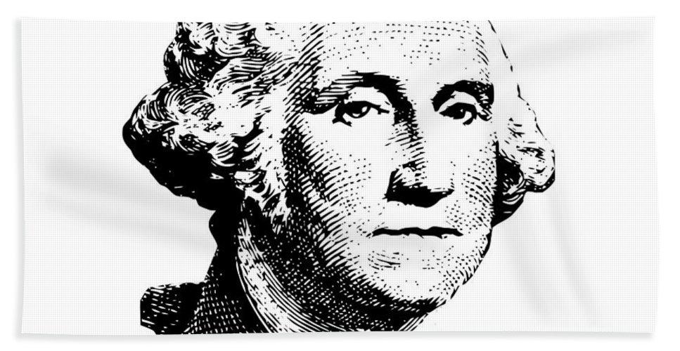 General George Washington Beach Towel featuring the digital art President Washington by War Is Hell Store