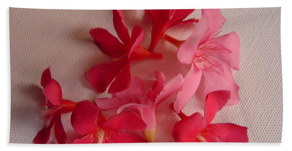 Foliage Beach Towel featuring the photograph Pretty Flowers by Usha Shantharam