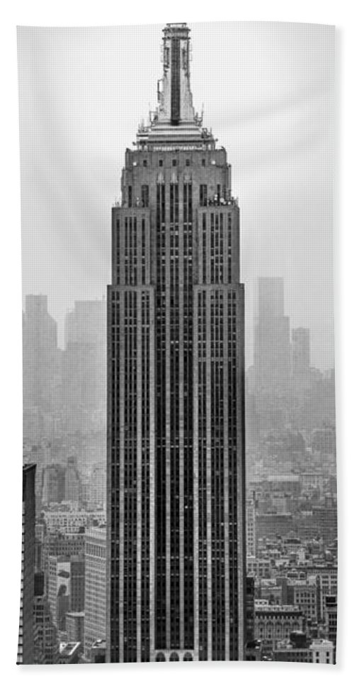Empire State Building Beach Towel featuring the photograph Pride Of An Empire by Az Jackson