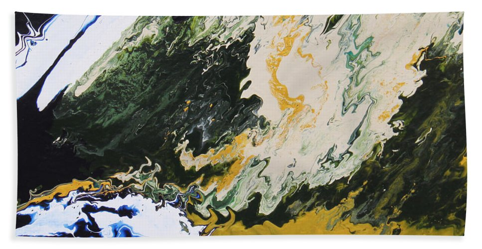 Fusionart Beach Towel featuring the painting Primeval by Ralph White