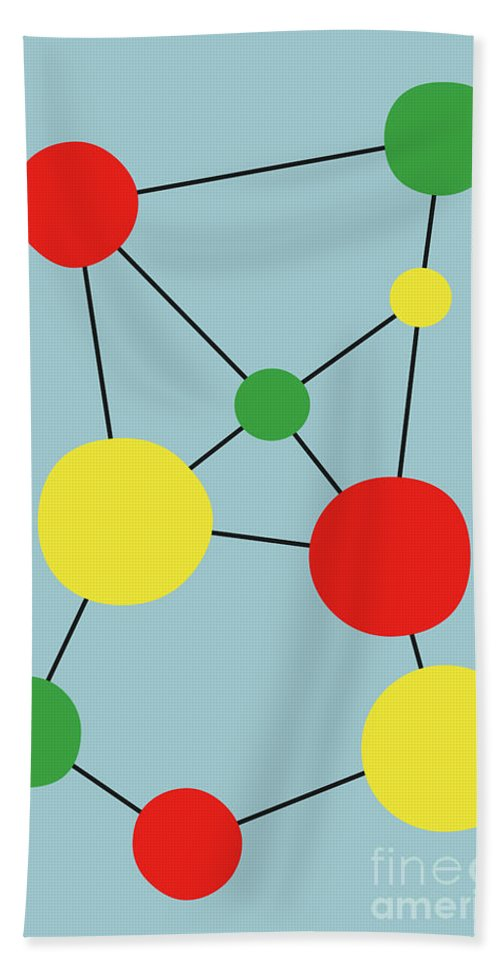 Graphic Beach Towel featuring the digital art Spots 2 by Benjamin Harte