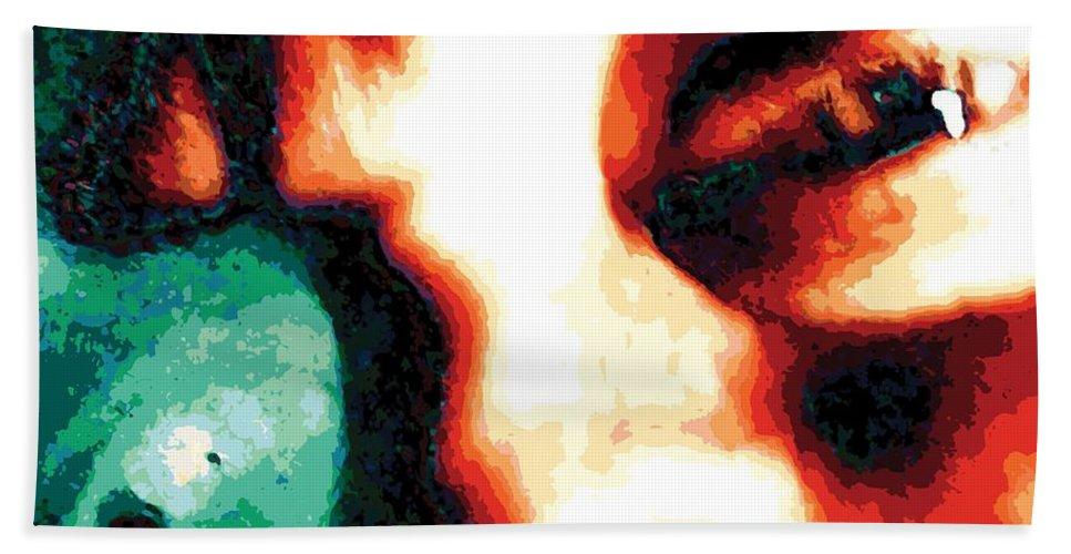 Abstract Beach Sheet featuring the digital art Prismeye, No. 2 by James Kramer
