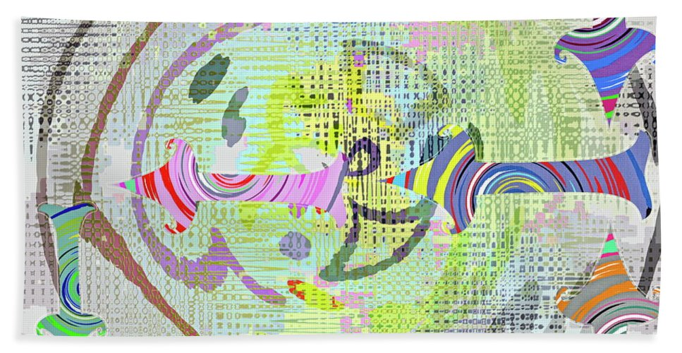 Ying Beach Towel featuring the digital art Process by Gwyn Newcombe