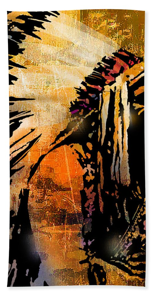 Native American Beach Towel featuring the painting Profile of Pride by Paul Sachtleben