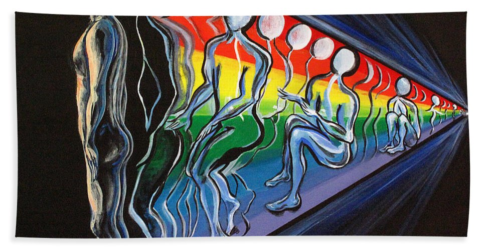 Spiritual Beach Towel featuring the painting Projection by Joyce Jackson