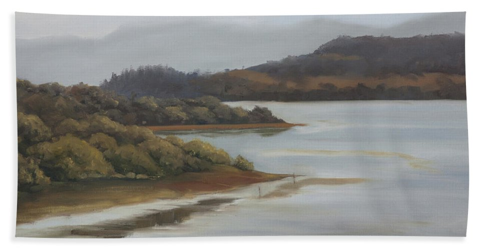 Promise Of A New Day Beach Towel featuring the painting Promise Of A New Day by Mandar Marathe