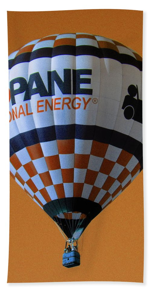 Orange Beach Towel featuring the photograph Propane by M Pace