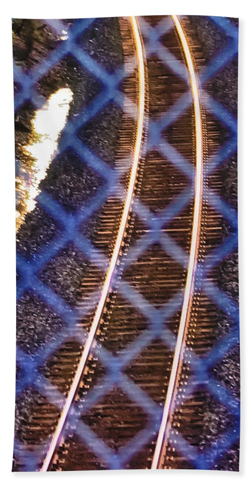 Railroad Tracks Beach Towel featuring the photograph Protection by Albert Seger