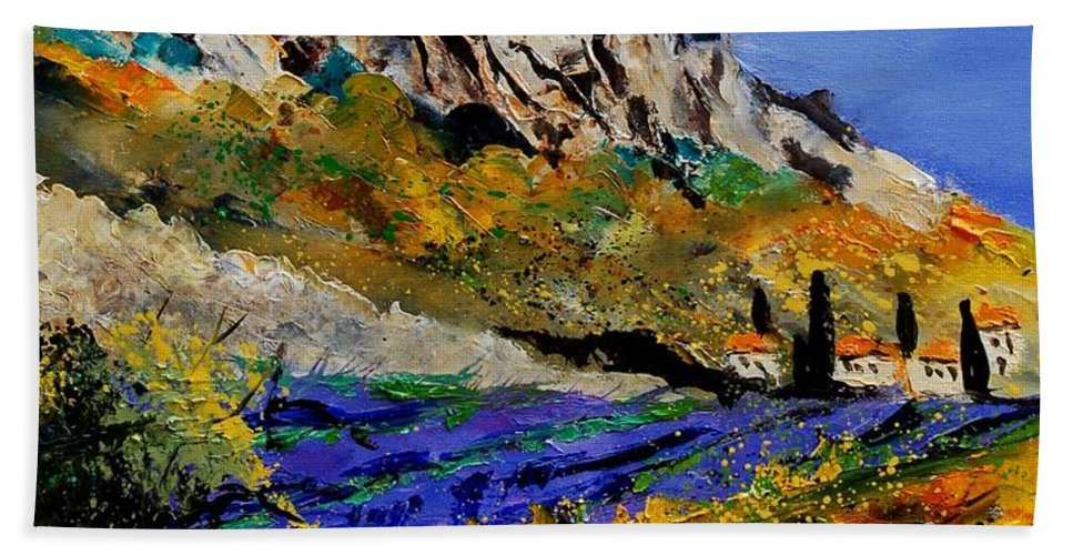 Flowers Beach Sheet featuring the painting Provence 560908 by Pol Ledent