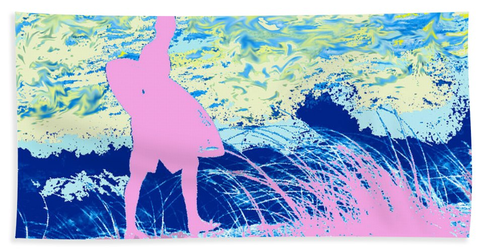 Florida Beach Towel featuring the photograph Psychadelic Beach by Ian MacDonald