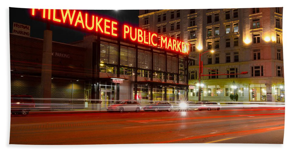 Milwaukee Beach Towel featuring the photograph Public Market by Jonah Anderson