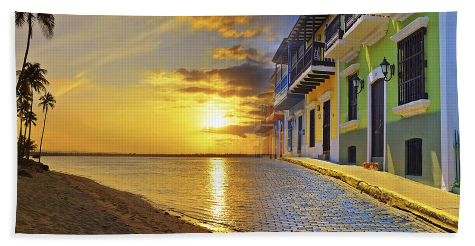 Puerto Rico Beach Towel featuring the photograph Puerto Rico Montage 1 by Stephen Anderson