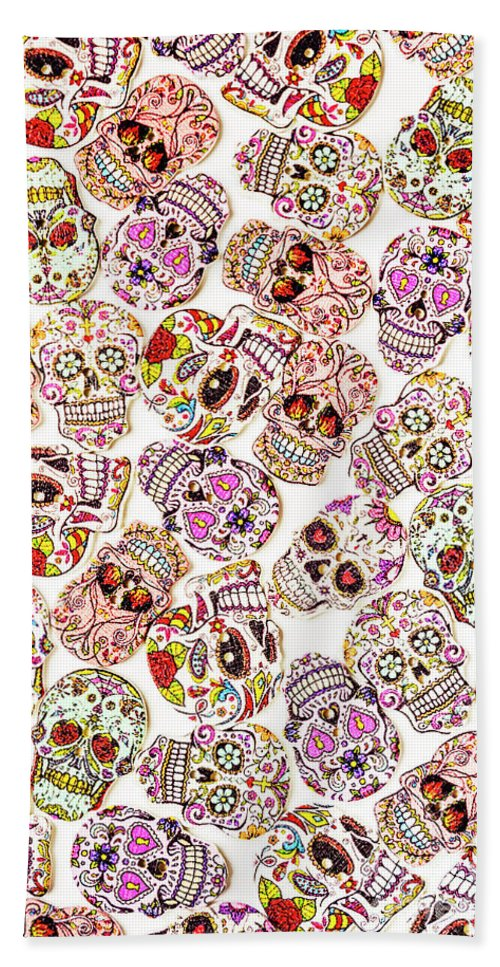 Skeleton Beach Towel featuring the photograph Punk Rock Pattern by Jorgo Photography - Wall Art Gallery