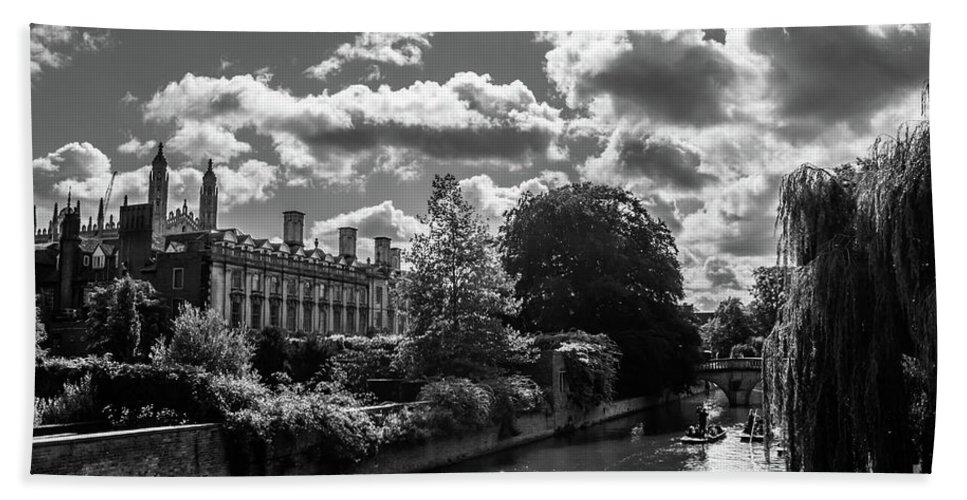 Punting Beach Towel featuring the photograph Punting, Cambridge. by Nigel Dudson