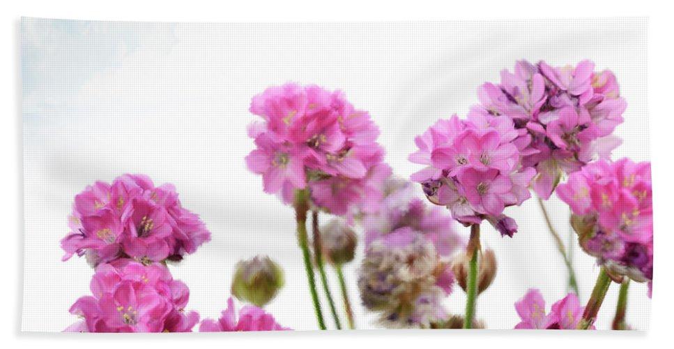 Flower Beach Towel featuring the digital art Purple Flowers by Svetlana Foote