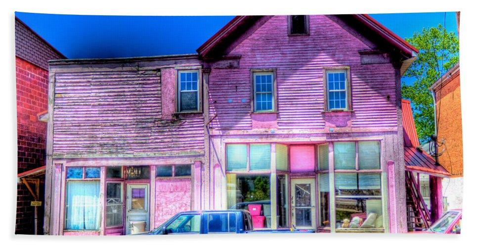 Purple Beach Towel featuring the photograph Purple House by Jonny D