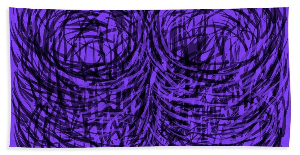 Purple Beach Towel featuring the digital art Purple Swirls by Joe Roache