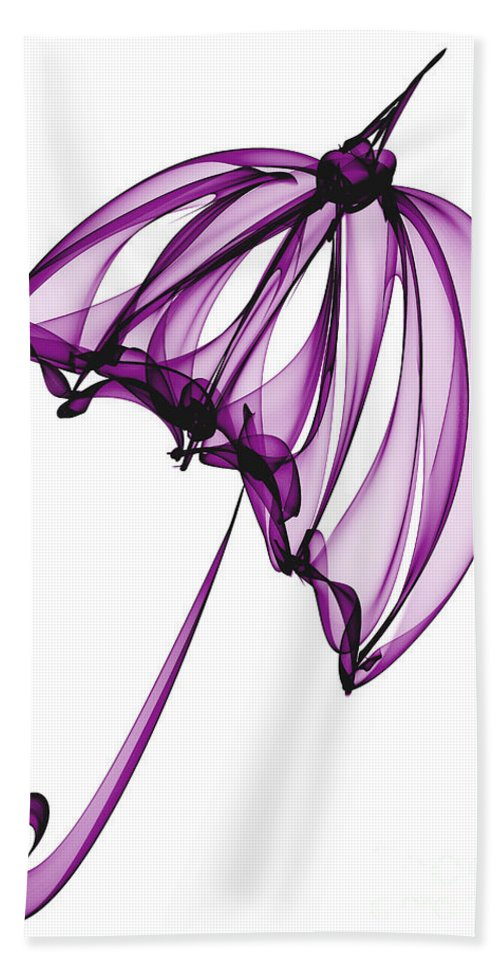 Purple Beach Towel featuring the digital art Purple Umbrella by Ann Garrett